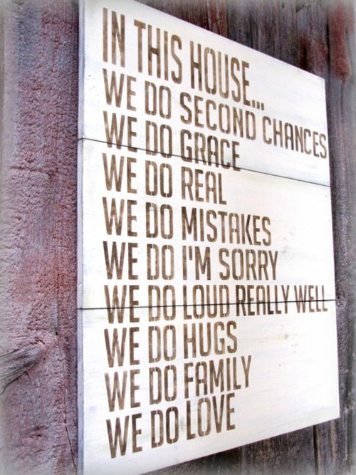 in this house...we do love