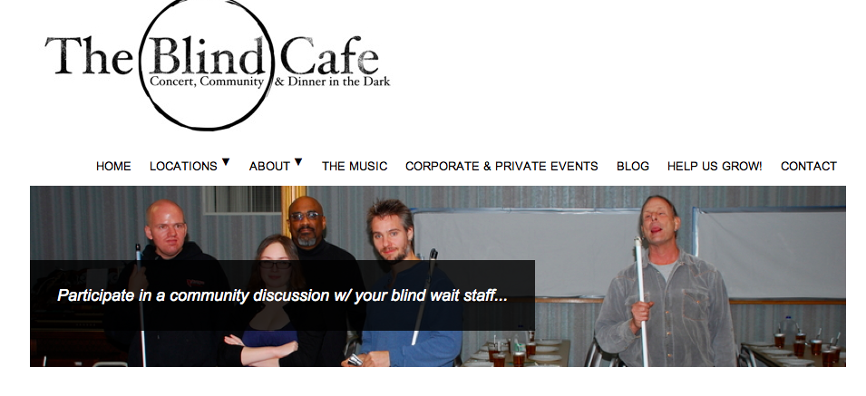 The Blind Cafe website