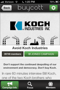 Avoid Koch Industries Campaign